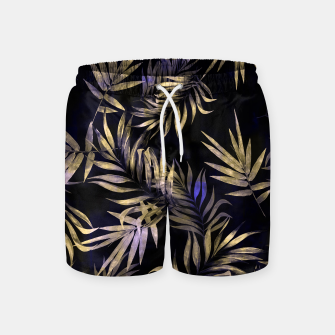 Golden Tropics Leaf Swim Shorts Bild der Miniatur
