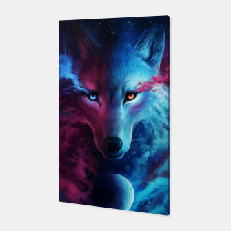 Thumbnail image of Galaxy Wolf Canvas, Live Heroes