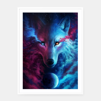 Thumbnail image of Galaxy Wolf Plakat, Live Heroes