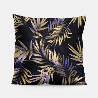 Golden Tropics Leaf Pillow Bild der Miniatur