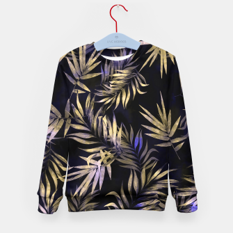Golden Tropics Leaf Kid's sweater Bild der Miniatur