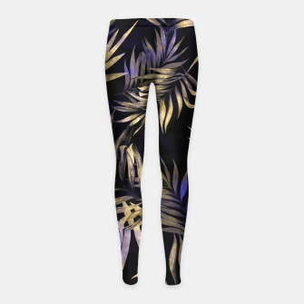 Golden Tropics Leaf Girl's leggings Bild der Miniatur