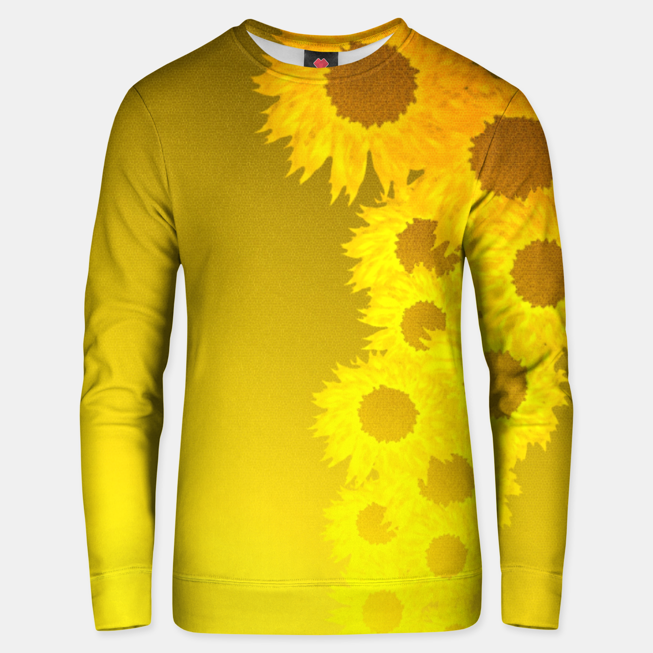 Foto sunflower mosaic pattern Cotton sweater - Live Heroes