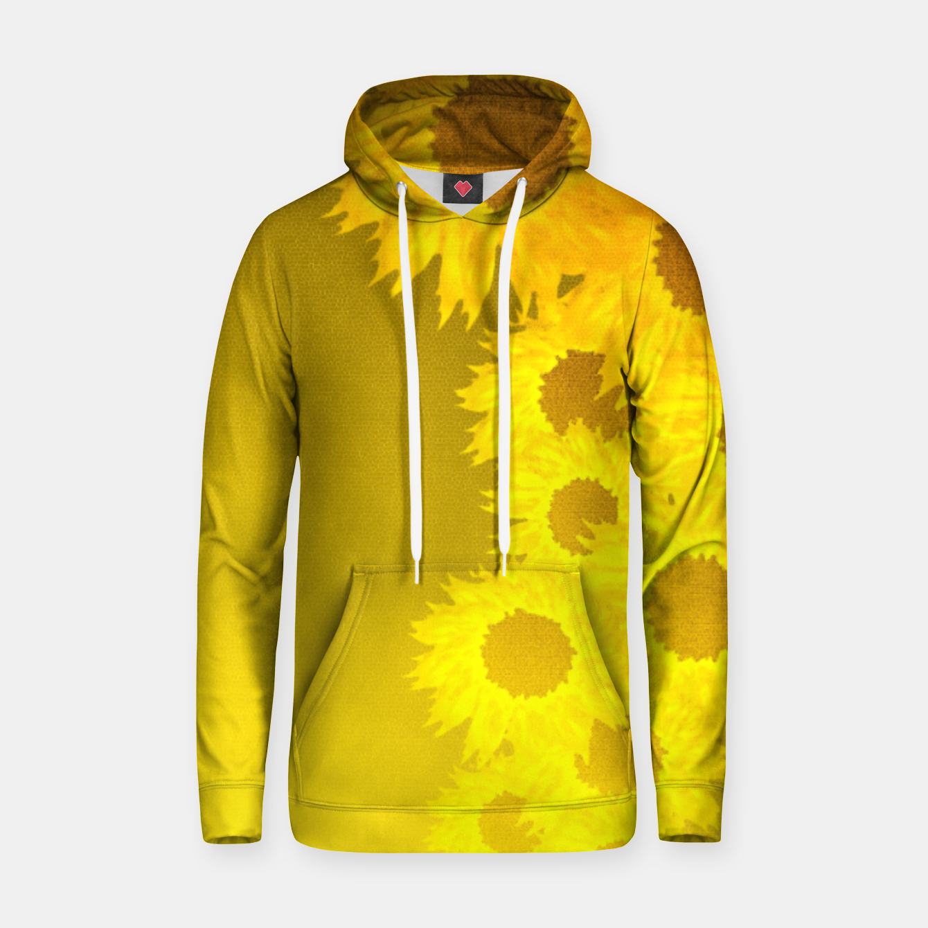 Foto sunflower mosaic pattern Cotton hoodie - Live Heroes