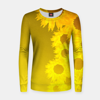 sunflower mosaic pattern Woman cotton sweater Bild der Miniatur