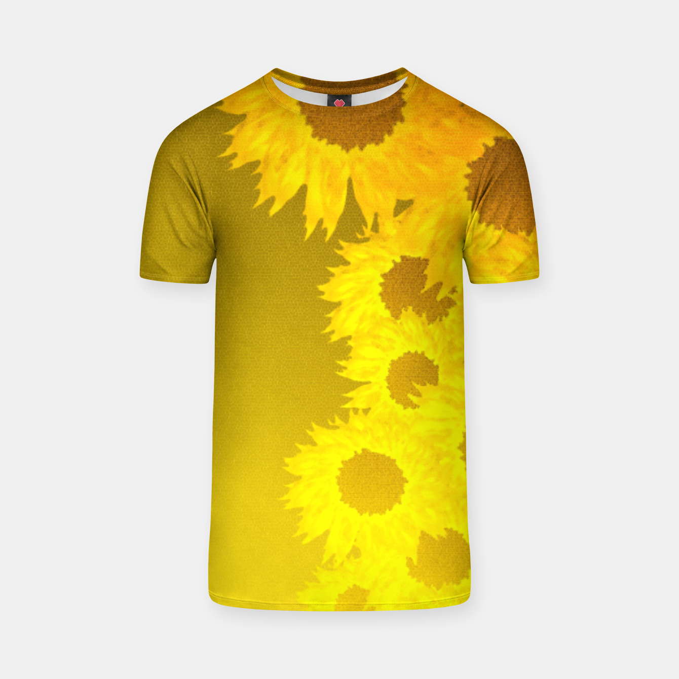 Foto sunflower mosaic pattern T-shirt - Live Heroes