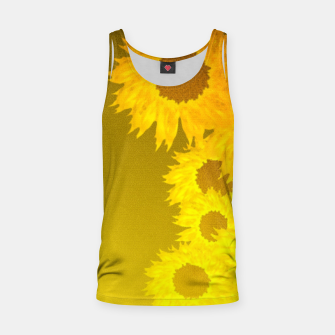 sunflower mosaic pattern Tank Top Bild der Miniatur