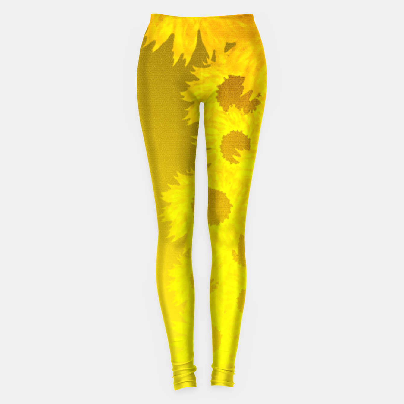 Foto sunflower mosaic pattern Leggings - Live Heroes