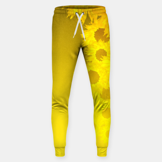 Miniatur sunflower mosaic pattern Cotton sweatpants, Live Heroes