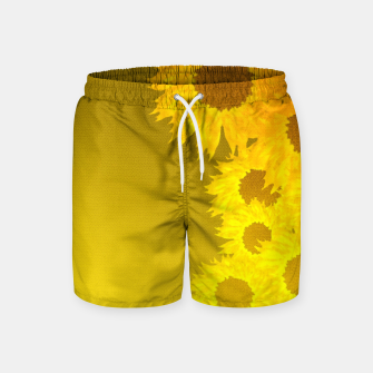 Miniatur sunflower mosaic pattern Swim Shorts, Live Heroes