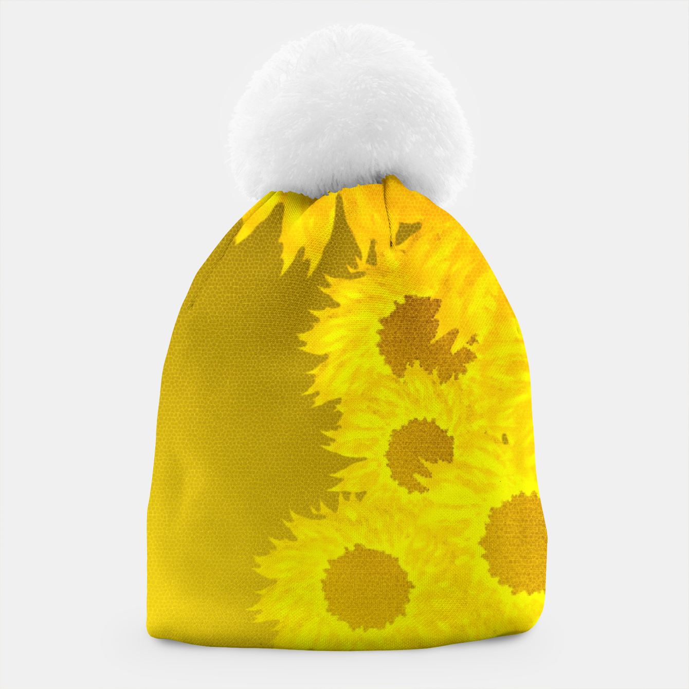 Foto sunflower mosaic pattern Beanie - Live Heroes