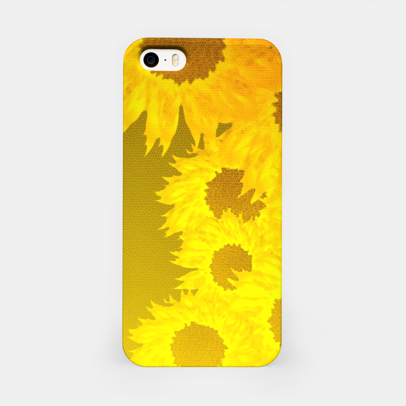 Foto sunflower mosaic pattern iPhone Case - Live Heroes