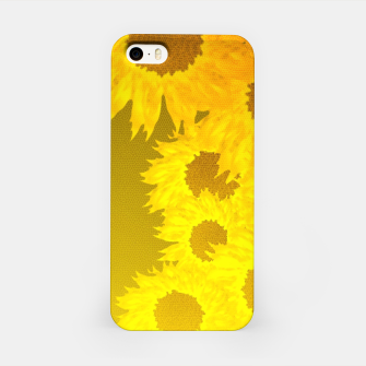 Miniatur sunflower mosaic pattern iPhone Case, Live Heroes