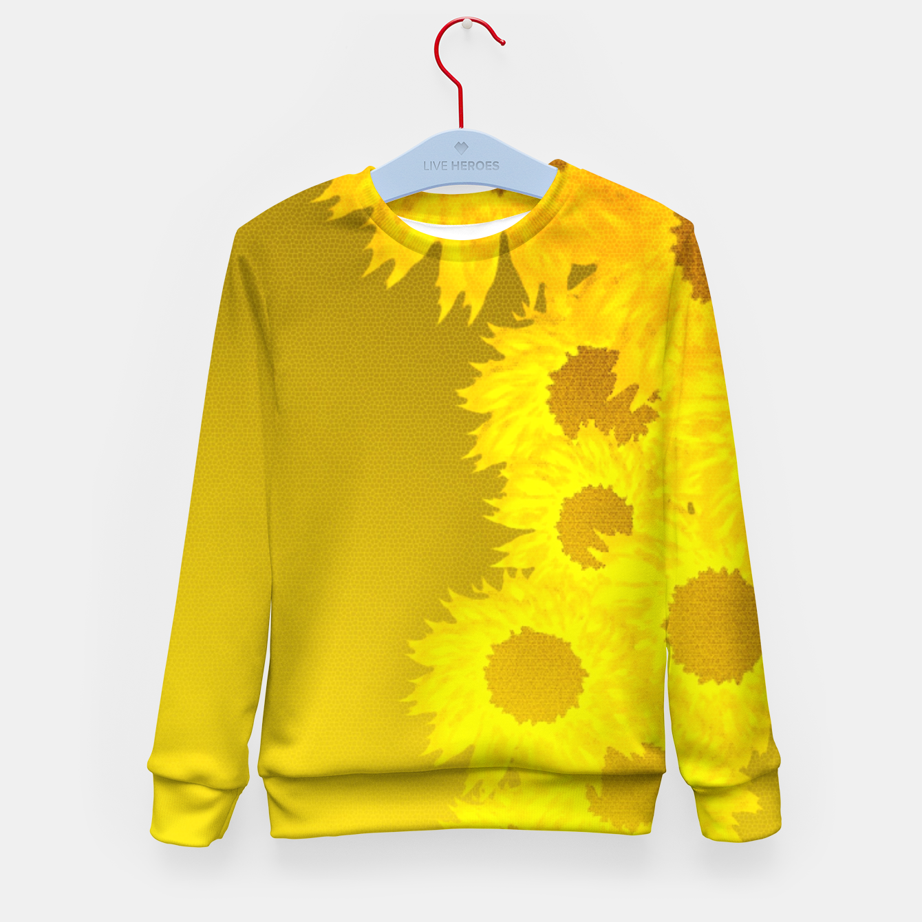 Foto sunflower mosaic pattern Kid's sweater - Live Heroes