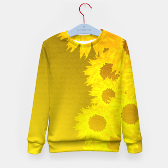 Miniatur sunflower mosaic pattern Kid's sweater, Live Heroes