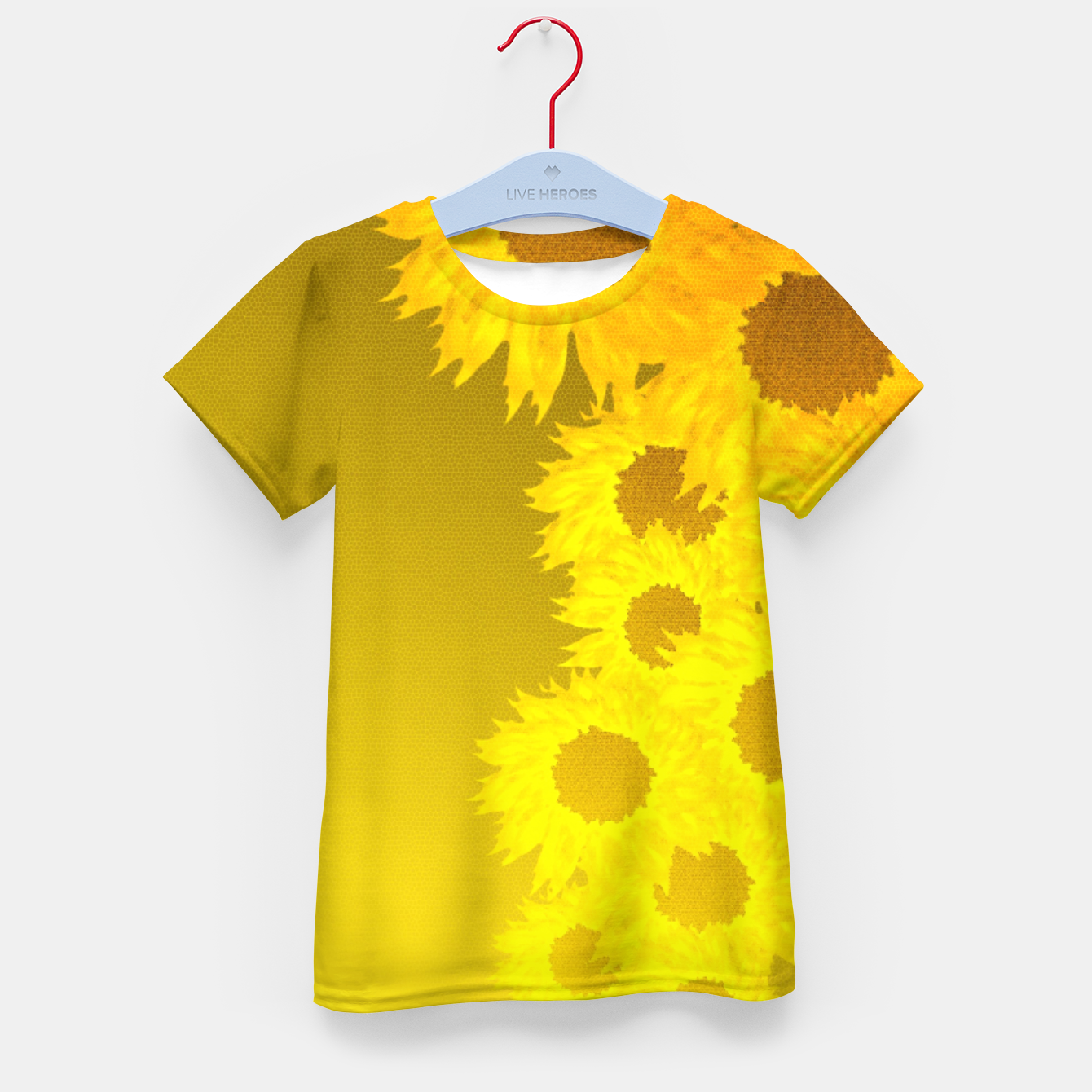 Foto sunflower mosaic pattern Kid's t-shirt - Live Heroes