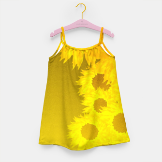sunflower mosaic pattern Girl's dress Bild der Miniatur