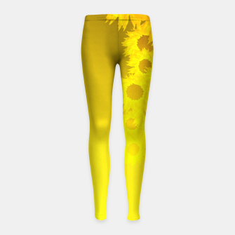 Miniatur sunflower mosaic pattern Girl's leggings, Live Heroes