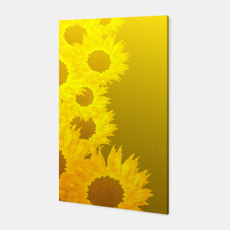 sunflower mosaic pattern Canvas Bild der Miniatur