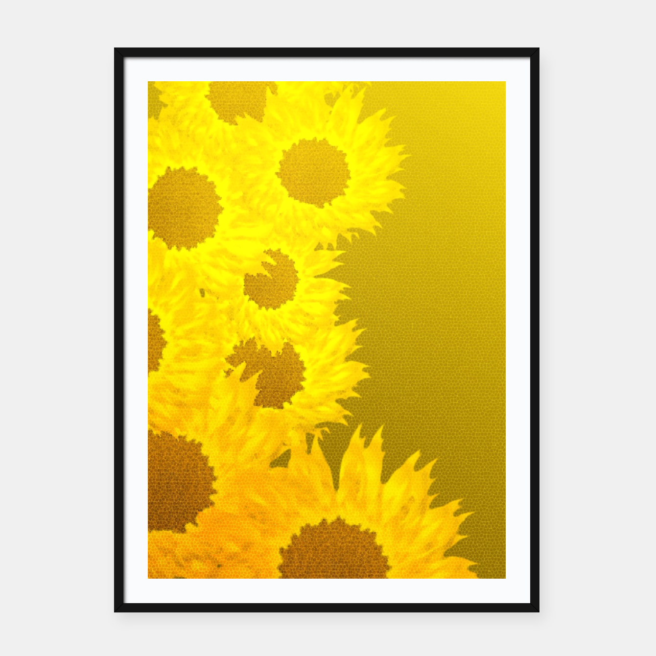 Foto sunflower mosaic pattern Framed poster - Live Heroes