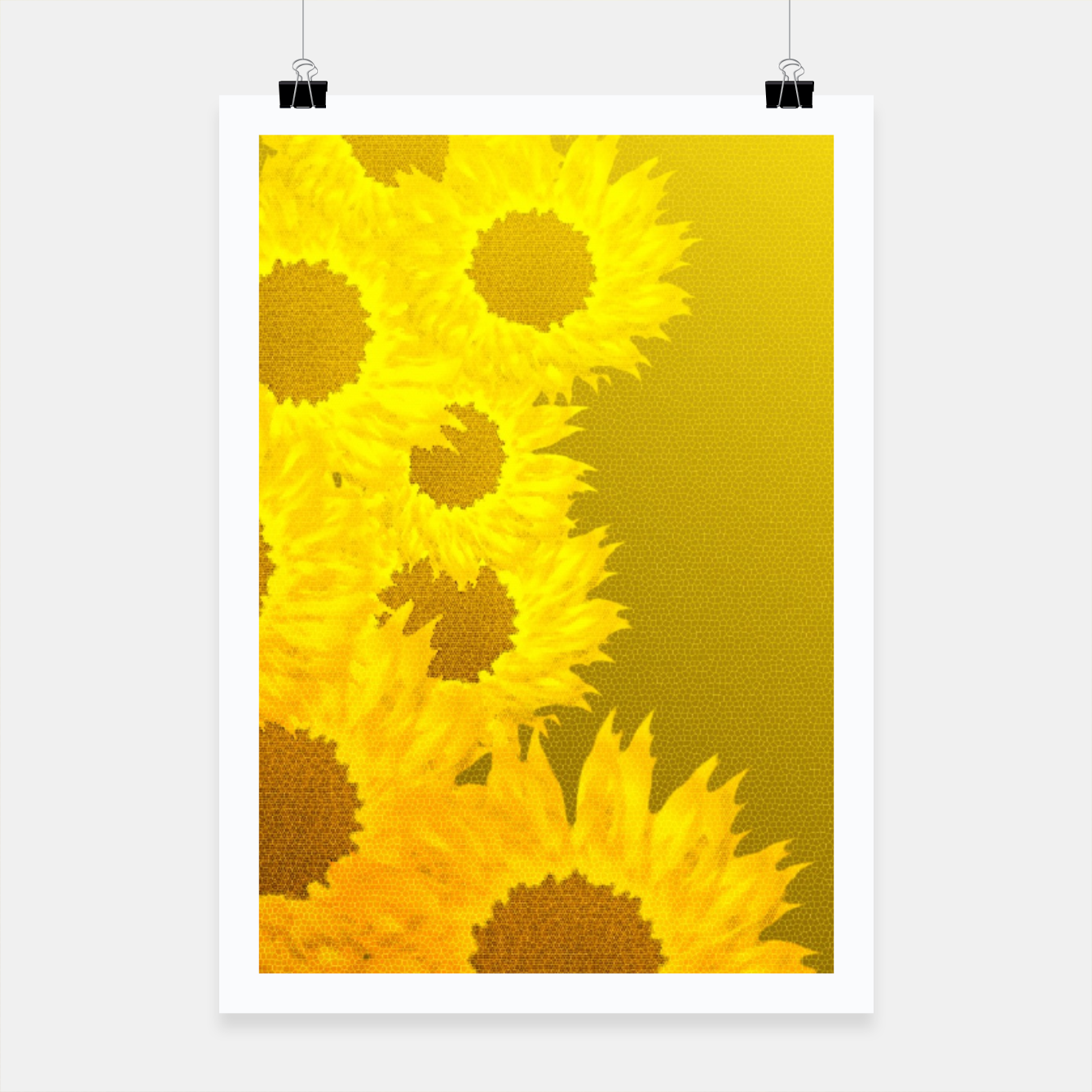 Foto sunflower mosaic pattern Poster - Live Heroes