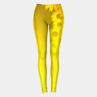 Miniatur sunflower mosaic pattern Leggings, Live Heroes