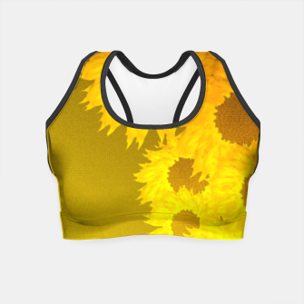 Miniatur sunflower mosaic pattern Crop Top, Live Heroes