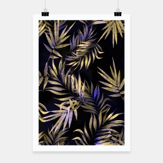 Thumbnail image of Golden Tropics Leaf Poster, Live Heroes