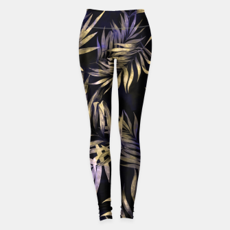 Golden Tropics Leaf Leggings Bild der Miniatur
