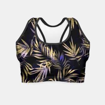 Golden Tropics Leaf Crop Top Bild der Miniatur