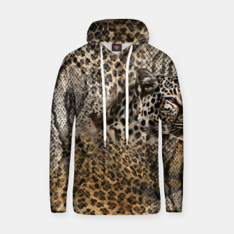Thumbnail image of Leopard Cotton hoodie, Live Heroes