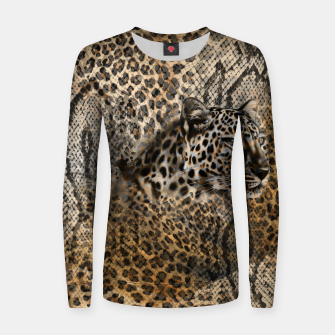 Thumbnail image of Leopard Woman cotton sweater, Live Heroes