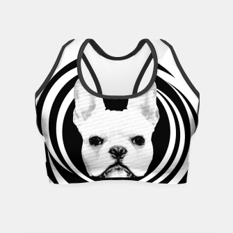 Miniature de image de Frenchie Retro Disco Dog #1 #decor #art Crop Top, Live Heroes