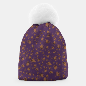 Thumbnail image of Adorable Bats purple pattern Gorro, Live Heroes