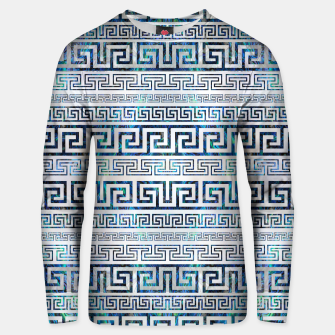 Thumbnail image of Greek Meander Pattern - Greek Key Ornament Cotton sweater, Live Heroes