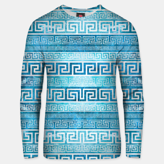 Greek Meander Pattern - Greek Key Ornament Cotton sweater thumbnail image