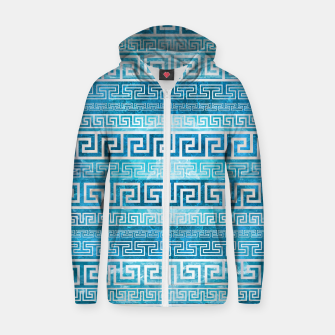 Greek Meander Pattern - Greek Key Ornament Cotton zip up hoodie thumbnail image