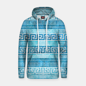Greek Meander Pattern - Greek Key Ornament Cotton hoodie thumbnail image