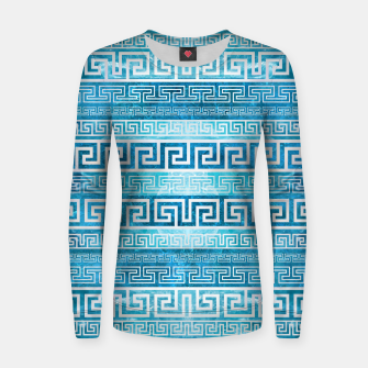 Greek Meander Pattern - Greek Key Ornament Woman cotton sweater thumbnail image