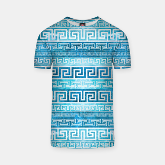 Greek Meander Pattern - Greek Key Ornament T-shirt thumbnail image