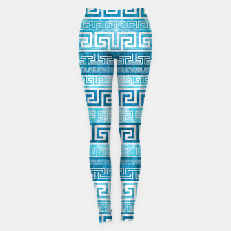 Greek Meander Pattern - Greek Key Ornament Leggings thumbnail image