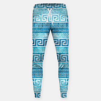 Greek Meander Pattern - Greek Key Ornament Cotton sweatpants thumbnail image