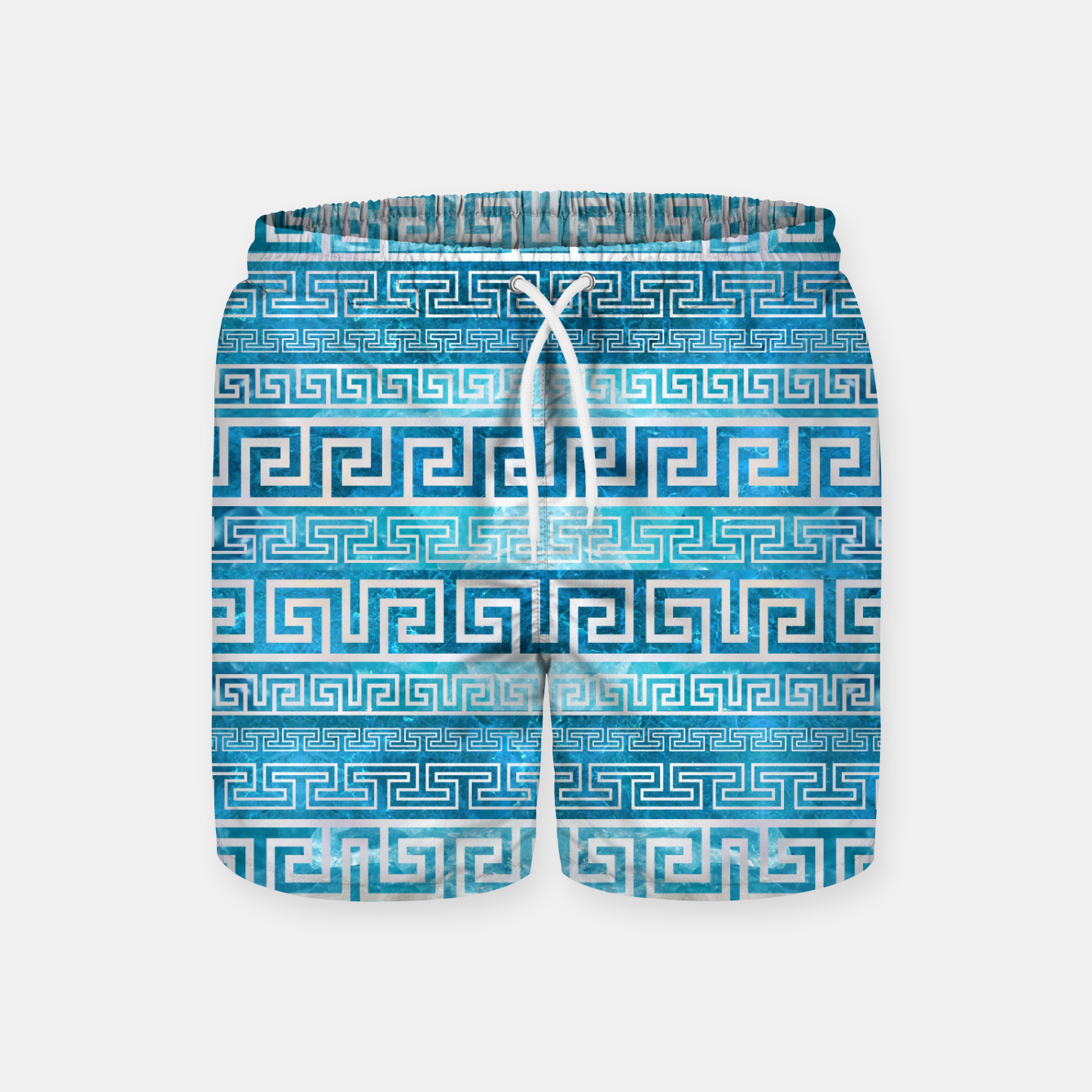 Image of Greek Meander Pattern - Greek Key Ornament Swim Shorts - Live Heroes