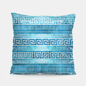 Greek Meander Pattern - Greek Key Ornament Pillow thumbnail image