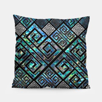 Thumbnail image of Greek Meander Pattern - Greek Key Ornament Pillow, Live Heroes
