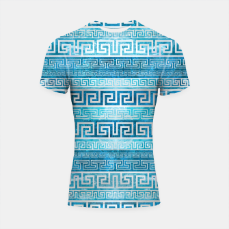 Greek Meander Pattern - Greek Key Ornament Shortsleeve rashguard thumbnail image
