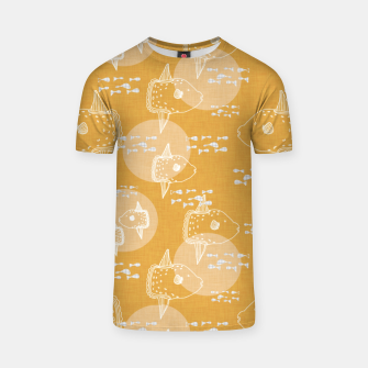 Thumbnail image of Mola Mola sunfish moonfish ocean sealife nautical yellow T-shirt, Live Heroes