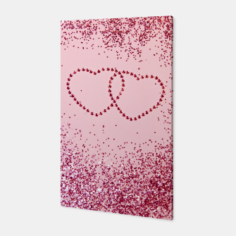 Thumbnail image of In Love Sparkling Glitter Hearts #2 #red #decor #art Canvas, Live Heroes