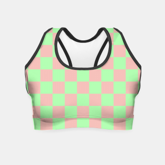 Miniature de image de Checkered Pattern I Crop Top, Live Heroes