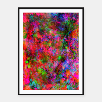 Miniatur Manic Fragrance (abstract, psychedelic, fluorescent) Framed poster, Live Heroes